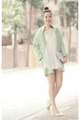 White-romwe-dress-green-choies-coat