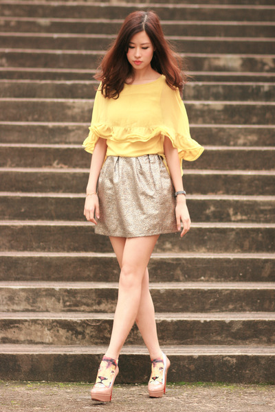 bronze Yesstyle skirt - yellow Global Citizen dress