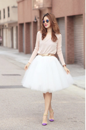 light pink Front Row Shop top - white tutulepetite skirt