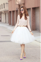 white tutulepetite skirt - light pink Front Row Shop top