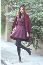 maroon American Apparel dress - crimson Chicwish blazer