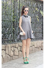 Heather-gray-chicwish-dress-ivory-choies-bag-white-kristin-perry-sunglasses