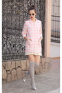 Light-pink-romwe-coat-silver-miu-miu-heels