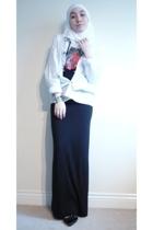 H&M shirt - Versace Jeans Couture t-shirt - asos dress - H&M scarf
