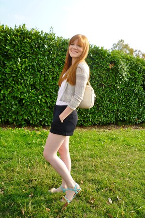 H&M cardigan - Forever 21 shorts - H&M top - Topshop sandals