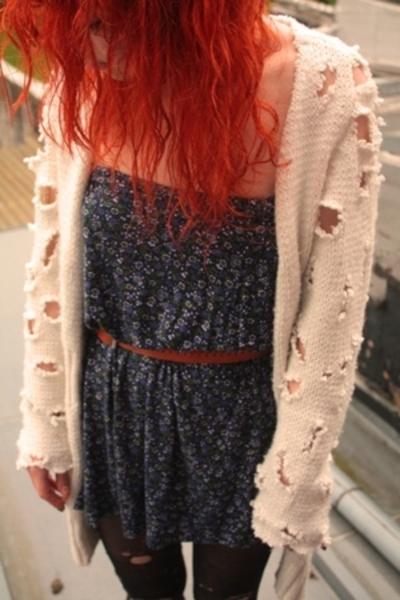 sweater - dress - belt