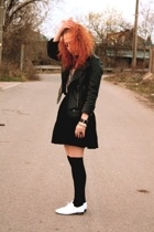 Topshop blazer - H&M blouse - skirt - H&M socks - Repetto shoes - Marc by Marc J