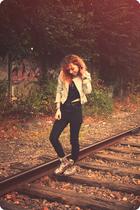 Zara blazer - Topshop t-shirt - Cheap Monday jeans - doc martens boots - Pinkup