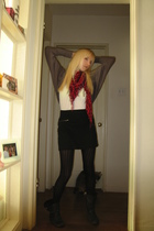Forever 21 sweater - BCBG top - Forever 21 skirt - Blowfish boots