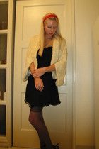 coat - lux uo dress - Victorias Secret tights - Fendi shoes