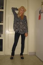 Walmart hat - Diane Von Furstenburg shirt - BDG pants - Kors by Michael Kors sho