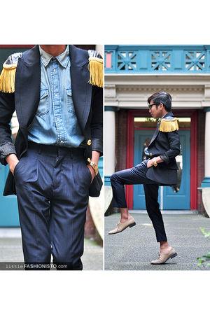 gold Mickelli Couture blazer