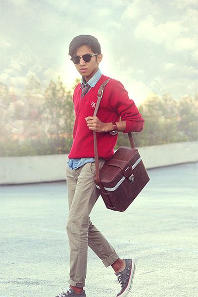 from zara kids Zara pants - vintage sweater - denim shirt H&M shirt