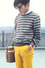 Zara-sweater-topman-shirt-vintage-bag-mustard-pants-h-m-pants