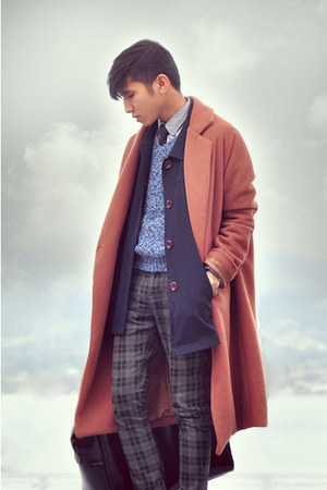 OAK  FORT coat - vintage coat - vintage sweater - H&M pants