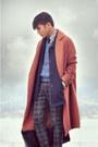 Oak-fort-coat-vintage-coat-vintage-sweater-h-m-pants