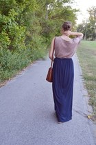 maxi skirt Forever 21 skirt - asymmetrical threadsence dress - H&M bag