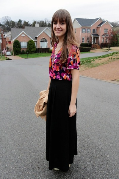 vintage blazer - flower Walmart top - H&M skirt - Appepazza wedges