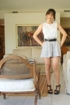 Gap shirt - forever 21 skirt - nicole miller belt - forever 21 shoes