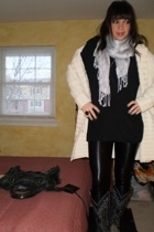 Gap sweater - LnA shirt - American Apparel leggings - vintage boots - scarf - ba