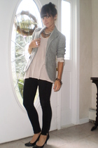 black J Brand jeans - black Abaete shoes - gray Gap blazer