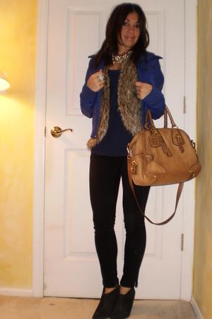jacket - Topshop vest - H&M shirt - J Brand jeans - Abaete boots - Prada accesso