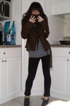 millard fillmore coat - Gracia shirt - J Brand jeans - shoes - scarf - scarf