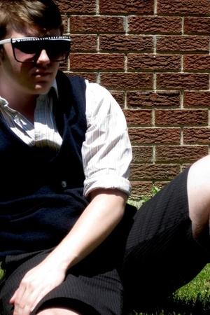 christian dior shirt - vest - sunglasses - shorts - Old Navy shoes