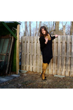 Gap cardigan - DIY From Flax Skirt dress - vintage scarf - We Love Color tights