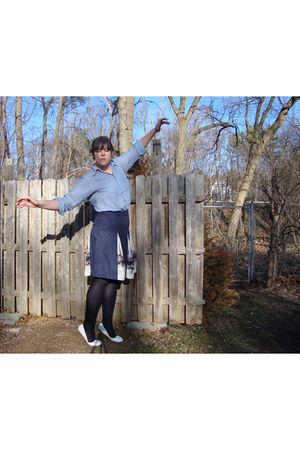 vitnage shirt - clothing swap skirt