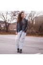 Black-ankle-boots-aldo-boots-light-blue-boyfriend-american-eagle-jeans