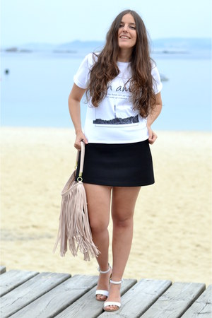 Zara sandals - H&M bag - Zara skirt - Martina Go t-shirt