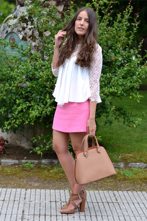 Zara blouse - Mango bag - Zara skirt - Stradivarius sandals