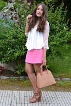 Zara blouse - Mango bag - Zara skirt - Stradivarius sandals