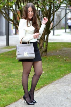 Zara skirt - Sheinside sweater - purificación garcía bag - Zara heels