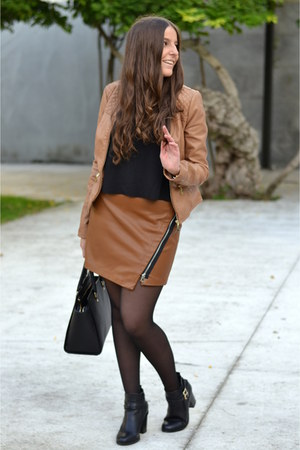 Deichmann boots - Pimkie jacket - Mango top - Zara skirt