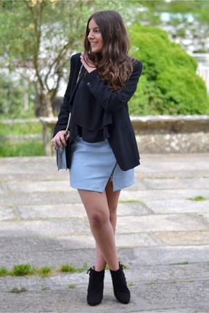 Zara boots - Zara blazer - Zara bag - Zara blouse - Zara skirt