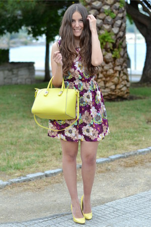 yellow Zara bag - wholesale dress - Zara heels