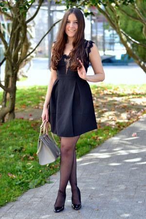 lace Sheinside dress - purificación garcía bag - charol Zara heels