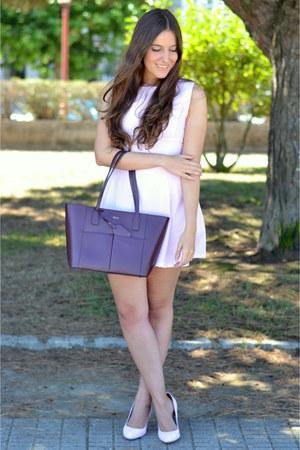 shein dress - Ralph Lauren bag - suiteblanco heels