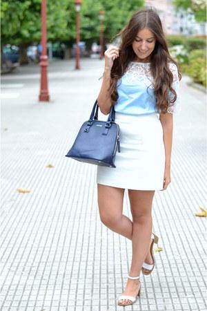 shein dress - Easy Wear bag - Mango skirt - Zara sandals