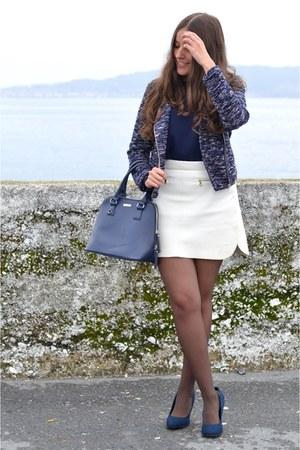 Pimkie jacket - Easy Wear bag - Zara skirt - Deichmann heels - Mango blouse
