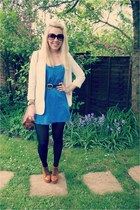deina boots Missuided heels - cream Topshop blazer - shoulder bag Mulberry bag