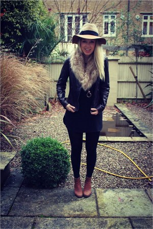 Anthropologie hat - leather next jacket