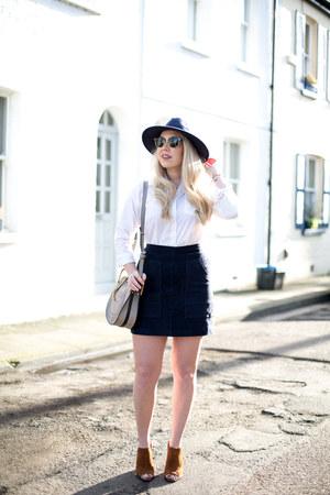 suede skirt whistles skirt