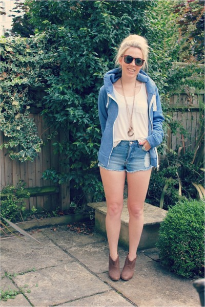 denim shorts Krisp Clothing shorts - ankle boots Zara boots