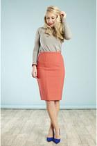 coral skirt whistles skirt