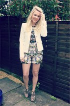 fantasy jacket Zara blazer - playsuit Zara dress