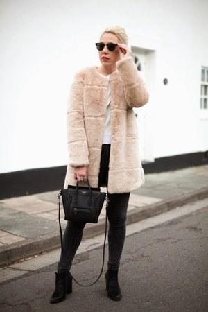 faux fur Zara coat