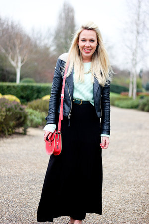 leather Topshop jacket